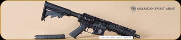 American Spirit Arms - 5.56NATO/223Rem - ASA15 Flat Top Pistol - Side Charger, RESTRICTED