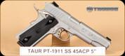 "Taurus - PT1911 - 45ACP - Blk/SS, 5"""