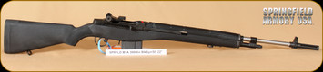 "Springfield - 308Win - 'Loaded' M1A - Semi-Auto - Black Fiberglass/Stainless, 22"" National match sights and barrel, Mfg# MA9826"