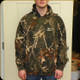 PROPHET RIVER - PULLOVER HOODIE - CAMO WITH WHITE LOGO - MEDIUM