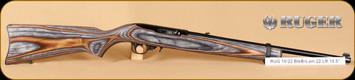 """Ruger - 22LR - 10/22 - Standard Carbine, BlkBrnLamBl, 18.5"""""""