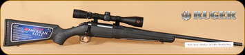 "Ruger - 243Win - American - BlkSyn/Bl, 22"" Barrel, Redfield Revolution 3-9x40 riflescope package"