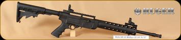 """Ruger - 22LR - SR22 - Blk Syn, 16"""", 6 Pos. Adjustable Stock, Hogue Grip"""