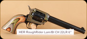 "Heritage - Rough Rider - 22 LR - Lam/Bl, Simulated case hardened, 6.5"""