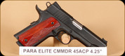 Para - 45ACP - Elite Commander - Wd, Bl, Match Grade Barrel, 4.25""