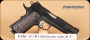 "Remington - 45ACP - 1911 R1 - Lam Blk Oxide, 5"" - 8rd - Mfg# 96328"