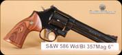 """S&W - 357Mag - Model 586 - Wd, Bl, 6"""" - Mfg# 150908"""