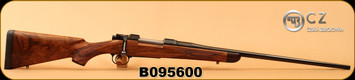 "Consign - CZ - 280AI - 550 American Hunting Rifle (AHR) - custom walnut stock/blued, jewelled bolt, target crown, 24"", Talley 30mm rings - Very low rounds"