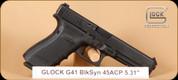 """Glock - G41 - 45ACP - Gen4, Black, 5.3"""", 3 10 rd Mags, Adj. sights - Mfg# PG4130101"""
