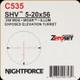 NIGHTFORCE - SHV - 5-20x56 - ZeroSet - .25 MOA - Center Only Illumination - MOAR - C535