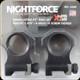 "NIGHTFORCE - XTRM - Ring Set - 1.375"" X-High - 30mm - Ultralite - 6 Screw - A268"