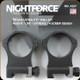 "NIGHTFORCE - XTRM - Ring Set - 1.5"" XX-High - 34mm - Ultralight - 4 Screw - A227"