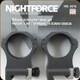 "NIGHTFORCE - XTRM - Ring Set - 1.5"" XX-High - 34mm - Ultralight - 6 Screw - A216"