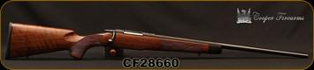 "Used - Cooper - 223AI - Model 51 Custom Classic - Bolt Action Rifle - AAA Claro Walnut stock w/African Ebony Tip/Blued, 22""Barrel, Detachable 4 round magazine - Appears Unfired - Like new, in original box"