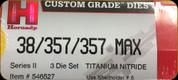 Hornady - Titanium Nitride Dies - 38/357/357 Max - 3 Die Set - 546527