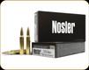 Nosler - 223 Rem - 77 Gr - Custom Match Grade - Hollow Point Boat Tail - 20ct - 60011