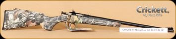 "Crickett - 22LR - Mossy Oak New Breakup/Blued, 16"" Barrel"