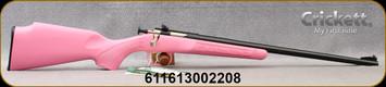 """Crickett - 22LR - Pink Synthetic/Blued, 16""""Barrel"""