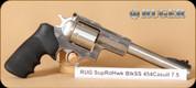 "Ruger - 454Casull - Super Redhawk -  BlkSynSS, Hogue Rubber Grips -7.5"" Barrel - 6rd - Mfg#  5505"