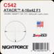 NIGHTFORCE - ATACR - 4-16x42 F1 - Zerohold - .250 MOA - DigIllum - PTL - MOAR- C542