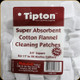 Tipton - Super Absorbent Cotton Flannel Cleaning Patches - 17-22 Rimfire - 1000pk - 652376