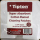 Tipton - Super Absorbent Cotton Flannel Cleaning Patches - 270 - 35 Cal - 100pk