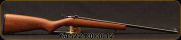 """Chipmunk - 22LR - Youth Left Handed Single Shot - Bolt Action Rimfire Rifle - Walnut Stock/Blued Finish, 16"""" Barrel, Adjustable Rear Peep Sight, Mfg# KSA00001LH"""