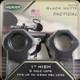 """Weaver - Tactical - 1"""" High - 6 Hole Caps - Blk Matte"""