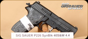 "SIG - 40S&W - P226 Extreme - Hogue G10 Piranha Grips/Black Hard Coat Anodized Finish, night sights, 4.4""Barrel"