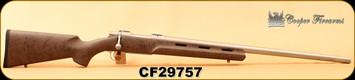 "Cooper - 243Win - M54 Phoenix - Brown w/Black Web vented stock/Stainless Steel, 26""Barrel"