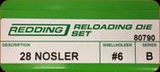 Redding - Full Length Sets - 28 Nosler - 80790