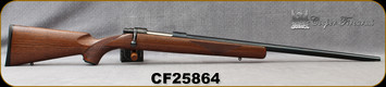 "Consign - Cooper - 6.5x55Swedish - Model 22 Classic - Single Shot - Bolt Action - Grade AA Walnut Stock/Polished Blued, 24""Barrel, Steel Trigger Guard & Grips Cap, Warne Bases - New, in original box"