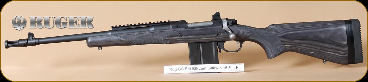 Ruger - 308Win - M77 - Gunsite Scout, BlkLam Bl, 16 5