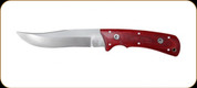"Katz Knives - Lion King Series - Lion Cub Yukon Fixed - Cherrywood Handle - 5.13"" Blade - W/Brown leather sheath"