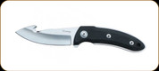 "Katz Knives - Kagemusha Series - NFX Guthook Blade - Kraton Handle - 3.5"" Blade - W/Brown Leather Sheath"