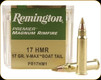 Remington - 17 HMR - 17 Gr -Premier - Accutip-V BT - 50ct - 28464
