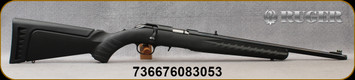 """Ruger - 22LR - Ruger American Rimfire - Bolt Action Rifle - Black Composite Stock w/Adjustable Comb Height/Blued, 18"""" Threaded Barrel, 10 Round Capacity, Mfg# 08305"""