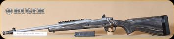 "Ruger - 308Win - M77 - Gunsite Scout, BlkLam/SS, 18"", flash hider, LH - Left Hand"