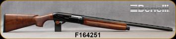 """Benelli - 12Ga/3""""/26"""" - Raffaello - Inertia Semi-Auto Shotgun - Grade AA Walnut/Blued Finish, Gold Trigger, 10mm Rib, F,M,IM,CL Chokes, Red Fiber Optic Front Sight - Demo Model in non-original Benelli case"""