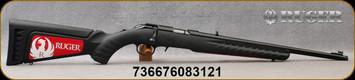 "Ruger - 17HMR - American - Blk Syn/Satin Blued, 18"" Threaded Barrel - Mfg# 08312"