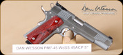 """Dan Wesson - Pointman7 - 45ACP - Wd/SS, 2 mags, 5"""""""