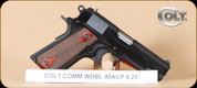 "Colt - 45ACP - 1991 - Commander, Wd/Bl, fixed sights, 4.25"", Model: O4691"