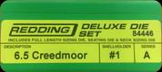 Redding - Deluxe Die Set - 6.5 Creedmoor - 84446