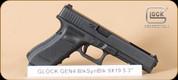 "Glock - G34 - 9mm - Gen4, Black, 5.5"", 3 mags - Mfg# UG3430101"