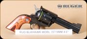 """Ruger - 357Mag/9mm - New Model Blackhawk Convertible - Hardwood Grips/Blued, 4.62""""Barrel, Mfg# 05244"""