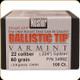 Nosler - 22 Cal - 60 Gr - Ballistic Tip Varmint - Spitzer - 100ct - 34992