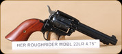 "Heritage - 22LR - Rough Rider - 6-Shot SA Revolver - Cocobolo grips/Blued, 4.75""Barrel, Mfg# RR22B4"