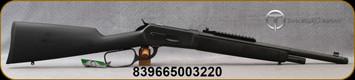 "Taylor's & Co - Chiappa -  45-70Govt - 1886 Ridge Runner Takedown -  Lever Action - Wood stock w/Black overmolded Soft-Touch rubber /Matte Black, 18.5""Threaded Barrel, 4 Round Capacity, Weaver Rail, Mfg# 920.363"
