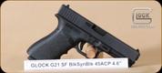 "Glock - G21SF - 45ACP - G3, BlkSyn, 4.6"", 2 mags, speed loader - Mfg# PF2150201"