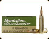 Remington - 17 Rem - 20 Gr - Premier AccuTip Varmint - Boat Tail - 20ct - 29162